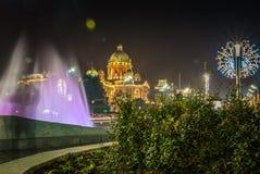 Belgrado em a noite Imagem de Stock