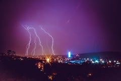 Belgrado na noite Fotos de Stock