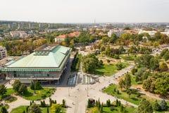 Belgrado, Sérvia 11/09/2017: biblioteca nacional de Belgrado Fotografia de Stock