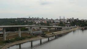 Belgrado - Sérvia - cena da cidade video estoque