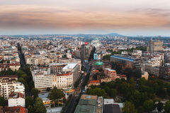 BELGRADO, SÉRVIA 22 de julho de 2017, skyline de Belgrado Imagens de Stock