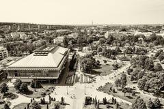 Belgrado, Serbia 11/09/2017: biblioteca nazionale di Belgrado Immagini Stock