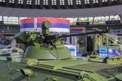 Belgrado; Serbia; 6 de junio de 2017; Armamento internacional justo; Hormiga imagen de archivo libre de regalías