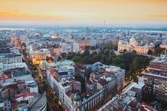 Belgrado, Serbia, el 22 de julio de 2017 Paisaje urbano de Belgrado Imagen de archivo libre de regalías