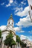 Belgrado, Serbia - 19 luglio 2016: La cattedrale di St Michael, chiesa ortodossa nel centro della città, un monu culturale impres Fotografia Stock
