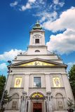 Belgrado, Serbia - 19 luglio 2016: La cattedrale di St Michael, chiesa ortodossa nel centro della città, un monu culturale impres Immagine Stock Libera da Diritti