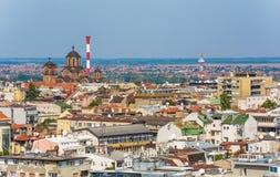 Belgrado, Serbia 11 09 2017 : Panorama de Belgrado tomado del santo Sava del templo Foto de archivo