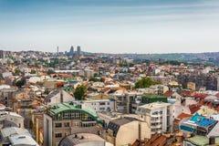 Belgrado, Serbia 11 09 2017 : Panorama di Belgrado preso dal san Sava del tempio Immagini Stock