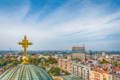 Belgrado, Serbia - 11 settembre 2017: Guardi dal punto di vista sul san Sava del tempio a Belgrado Immagini Stock