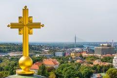 Belgrado, Serbia - 11 settembre 2017: Guardi dal punto di vista sul san Sava del tempio a Belgrado Immagine Stock Libera da Diritti