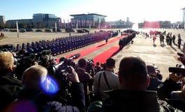 Belgrado, Servië 17 januari 2019 Voorzitter van Russische Federatie, Vladimir Putin in officieel bezoek aan Belgrado, Servië stock foto