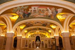 Belgrado, Servië - Oktober 24, 2017: De Orthodoxe Serviër Royalty-vrije Stock Foto's