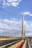 Belgrads Brücke über Ada Pylon Stockfotografie