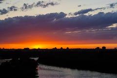 Belgrage de coucher du soleil kalemegdan Photographie stock libre de droits