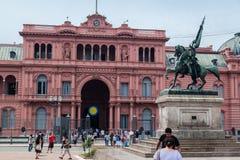 Belgrano allmän Casa Rosada Argentina Royaltyfri Fotografi