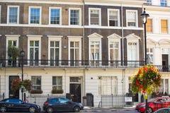 Жилая ария Belgravia Роскошное свойство в центре Лондона Строка периодических зданий стоковое фото