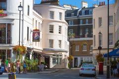 Жилая ария Belgravia Роскошное свойство в центре Лондона Строка периодических зданий стоковые фотографии rf