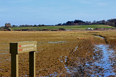 Belhaven Bay, East Lothian, Scotland. A view of the salt marshes at belhaven bay in east lothian, near Dunbar, in Scotland Royalty Free Stock Photo