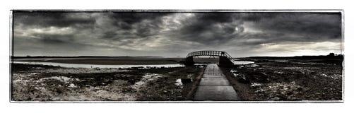 Belhaven Bridge. Bridge to nowhere not accessible when tide is in Stock Image