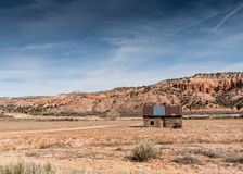 Beli kabina w pustyni Utah Obrazy Stock
