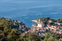 Beli Losinj sight from top of hill Royalty Free Stock Images