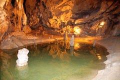 Belianska-Höhle, Slowakei stockbilder
