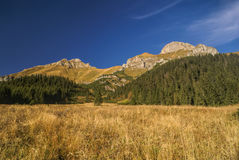 Belianske Tatry. Scenic landscape of Belianske Tatry region in Slovakia on sunny autumn day stock photography