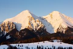 Belianske Tatry & x28;Belianske Tatras& x29; in winter, Slovakia. Outdoors, outside, exteriors, europe, eastern, republic, czechoslovakia, tatransky, national royalty free stock image