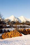 Belianske Tatry & x28;Belianske Tatras& x29; in winter, Slovakia. Outdoors, outside, exteriors, europe, eastern, republic, czechoslovakia, tatransky, national royalty free stock photography