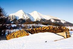 Belianske Tatry & x28;Belianske Tatras& x29; in winter, Slovakia. Outdoors, outside, exteriors, europe, eastern, republic, czechoslovakia, tatransky, national royalty free stock images