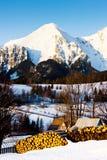 Belianske Tatry & x28;Belianske Tatras& x29; in winter, Zdiar, Slovakia. Outdoors, outside, exteriors, europe, eastern, republic, czechoslovakia, tatransky stock images
