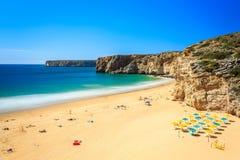 Beliche Beach next to Sagres, Saint Vincent Cape, Portugal Royalty Free Stock Photos