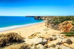 Beliche Beach next to Sagres, Saint Vincent Cape, Portugal Stock Photo