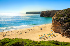 Beliche Beach next to Sagres, Saint Vincent Cape, Portugal Royalty Free Stock Photography