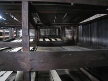 Beliches do ` dos prisioneiros, Auschwitz fotos de stock royalty free