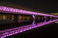 Belichtete Brücke Stockfotos