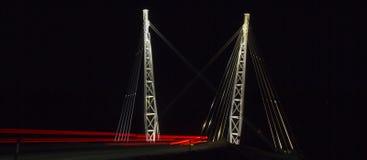 Belichtete Brücke Lizenzfreies Stockfoto