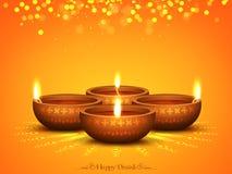 Belichtete Lit-Lampe für Diwali-Feier Lizenzfreie Stockbilder