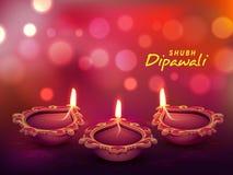 Belichtete Lit-Lampe für Diwali-Feier Lizenzfreies Stockfoto