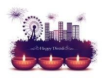 Belichtete Lit-Lampen für Diwali-Feier Lizenzfreies Stockbild