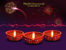 Belichtete Lit-Lampen für Diwali-Feier Stockbilder