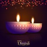 Belichtete Lit-Lampen für Diwali-Feier Lizenzfreie Stockfotografie
