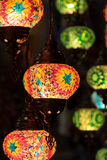 Belichtete türkische Art-Lampen Lizenzfreies Stockbild