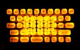 Belichtete Tastatur Lizenzfreies Stockfoto