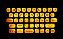 Belichtete Tastatur Lizenzfreies Stockbild