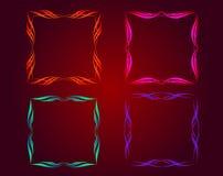 Belichteter dekorativer Rahmen Stockbild