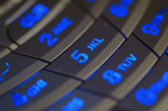 Belichteter Tastaturblock Lizenzfreie Stockfotografie