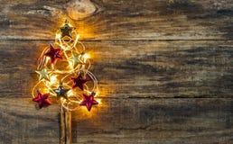 Belichteter Weihnachtsbaum Stockbilder