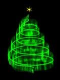 Belichteter Weihnachtsbaum lokalisiert mit einem Stern Lizenzfreies Stockbild