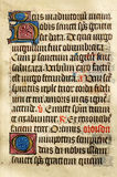 Belichtetes Manuskript stockfotografie